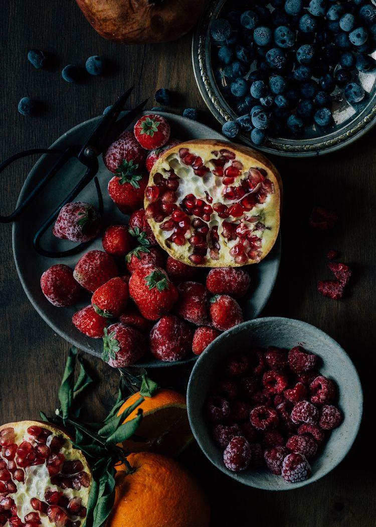 Colores brillantes en la fotografía culinaria