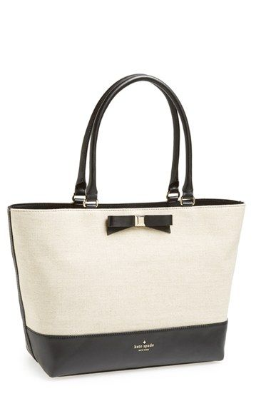 kate spade new york 'holly street - francis' leather  fabric tote | Nordstrom