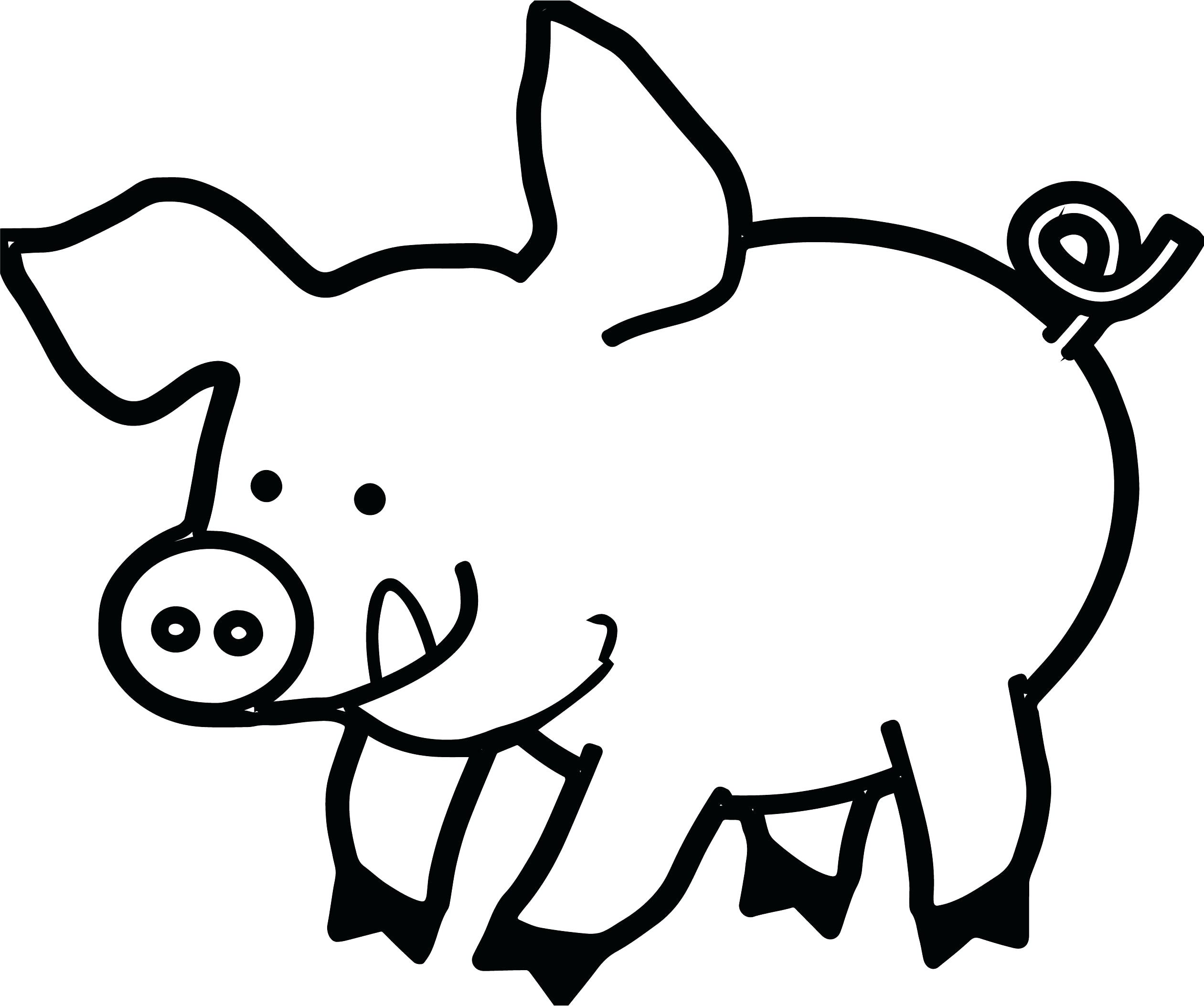 Pig Face Drawing 35 20 Clipart Black And White