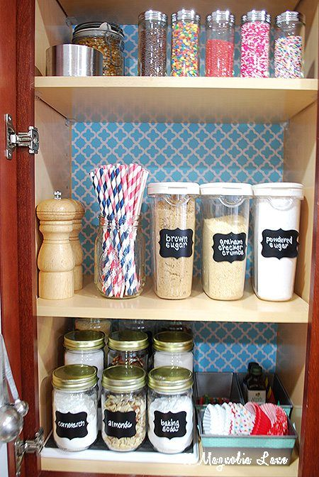 Lovely Organizing A Baking Cabinet Is Easy Using Baking Supplies, A Quick Way To  See What