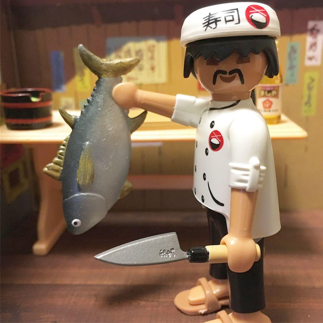 All Tuna Sushi  お寿司屋さんの豪華マグロづくし  #playmobil #プレイモービル #playmo #rement #リーメント #toystagram #toyphotography #Sushi #寿司 #tuna #マグロ #ガチャガチャ #gachapon