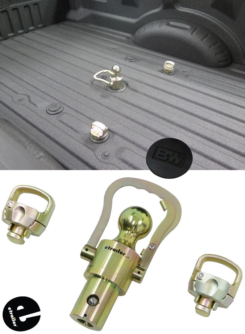 Bw Ball And Safety Chain Kit For Ford Gm Nissan Titan Hang Wiring Harness Trailer This Is Under Your Truck Bed To Hook Up