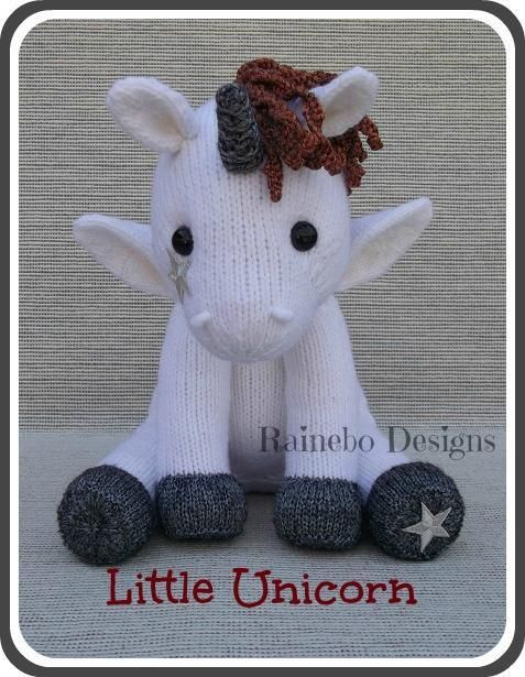 Knit Little Unicorn Knit Patterns Adorable Animals Other