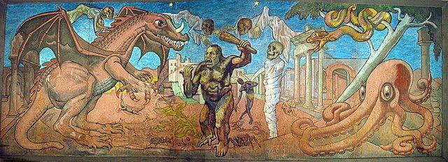 Terror Ride Mural Aka Monster Baseball Lagoon Utah Personal
