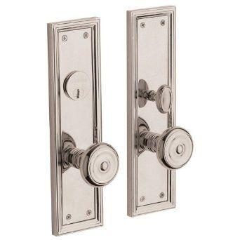Baldwin 6547 Entr Nashville Single Cylinder Mortise Handleset Trim Set Lifetime Polished Nickel Baldwin Hardware Front Door Hardware Door Handles