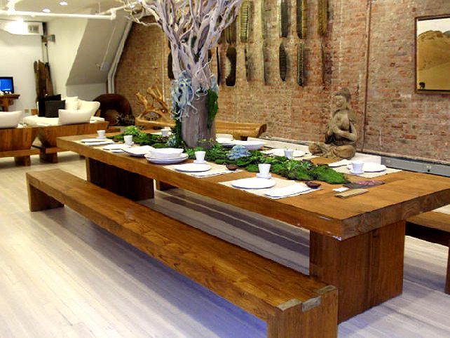 Inspiration Best Large Dining Room Design Ideas With Large Dining Room Table With Bench Dining Table With Bench Custom Dining Tables Contemporary Dining Table