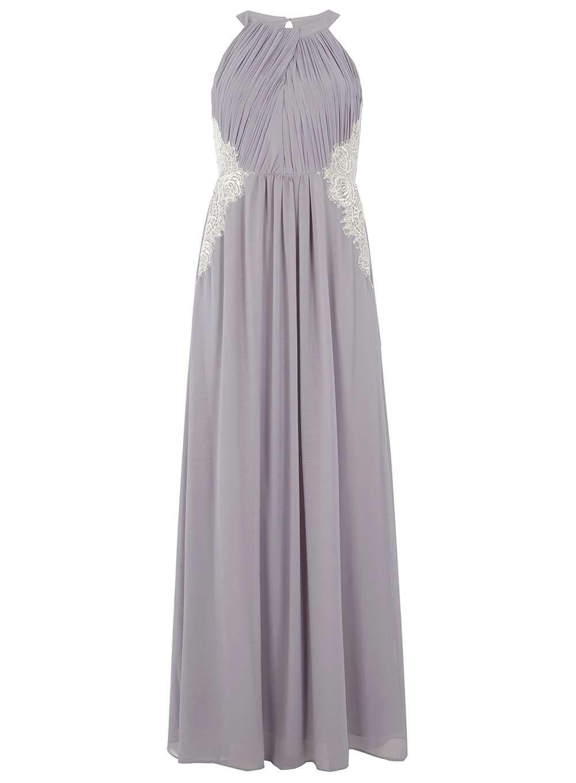 Showcase Grey halter neck lace maxi dress - Abend - und Partykleider ...