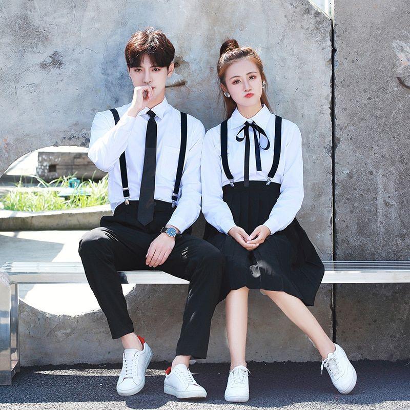 Pleated Skirt Suit Japanese School JK Uniform Summer Girls Sailor Suit Blouse