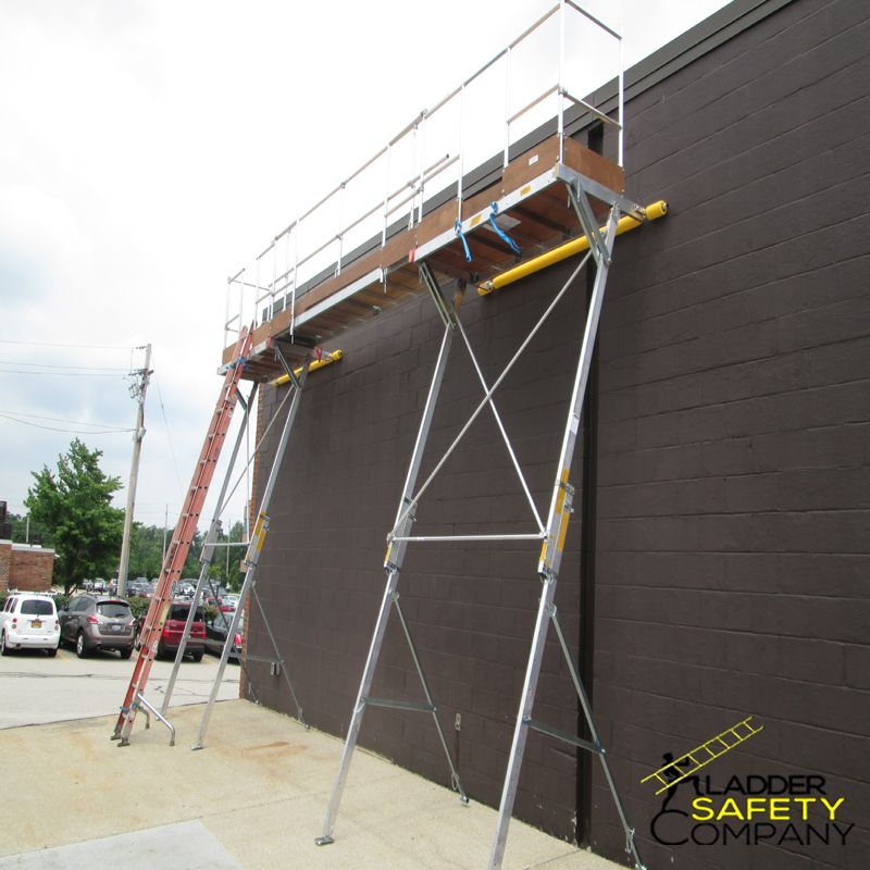 Our Roofline System Is Designed To Provide Roof Edge Protection This Safe Access Work Platform Combines 2 Of Our Easi Dec Sys Work Platform Roof Edge Ladder