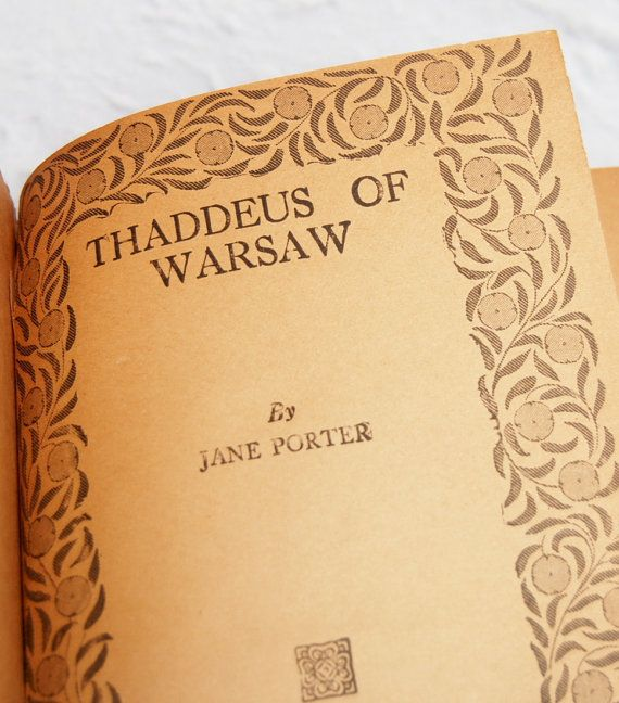 Your Place To Buy And Sell All Things Handmade Jane Porter Warsaw Historical Novels