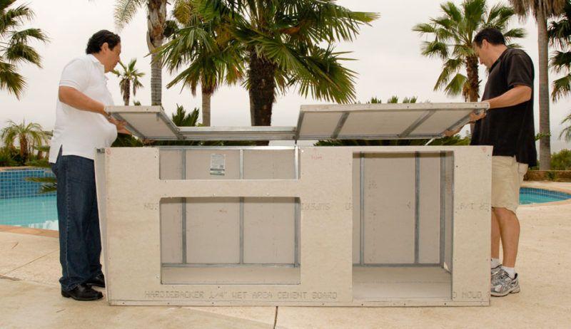 outdoor kitchen island frame kit kitchen pinterest bbq island
