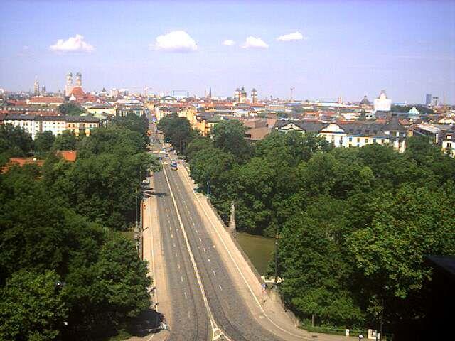 Blick aus dem Maximilianeum über München