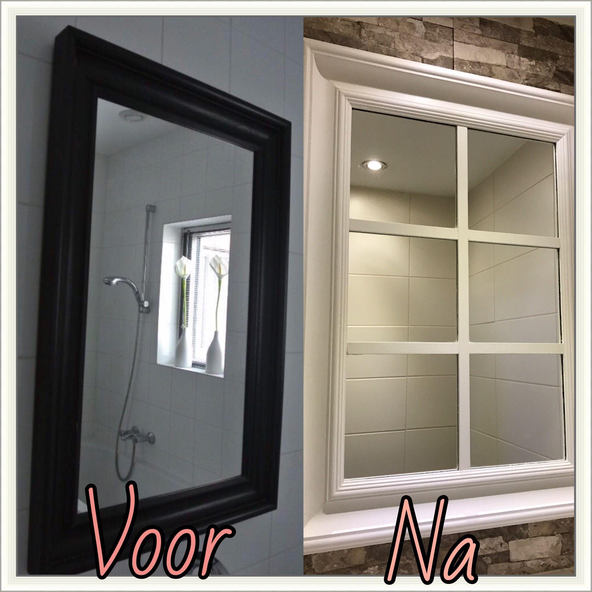 van de hemnes spiegel van ikea een landelijke raamspiegel. Black Bedroom Furniture Sets. Home Design Ideas