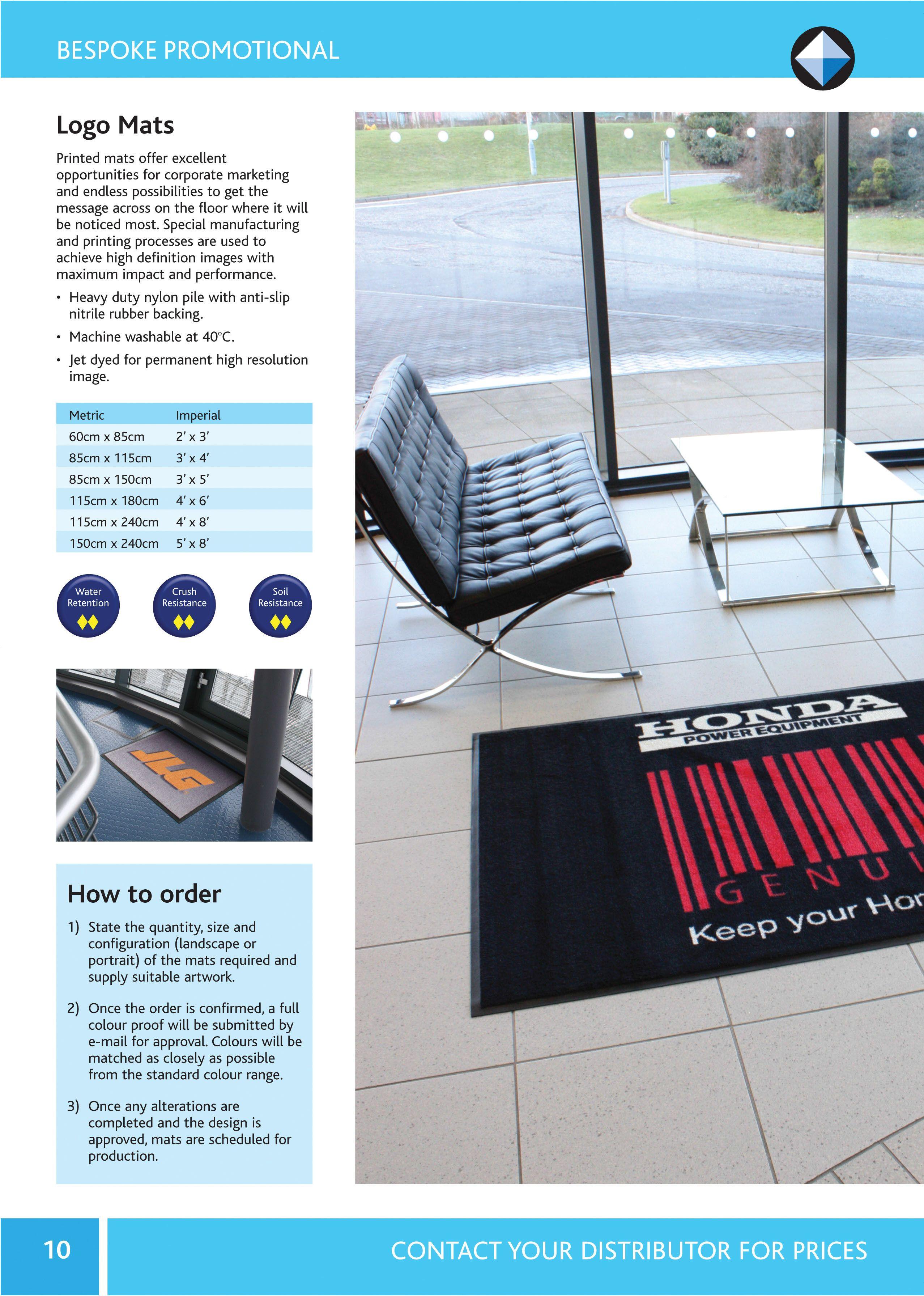 Bespoke Promotional Mats from Blue Diamond Industrial