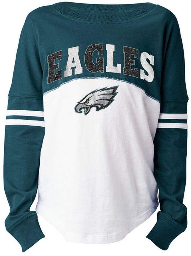 size 40 08e8e 00f18 5th & Ocean Philadelphia Eagles Slub Long Sleeve T-Shirt ...