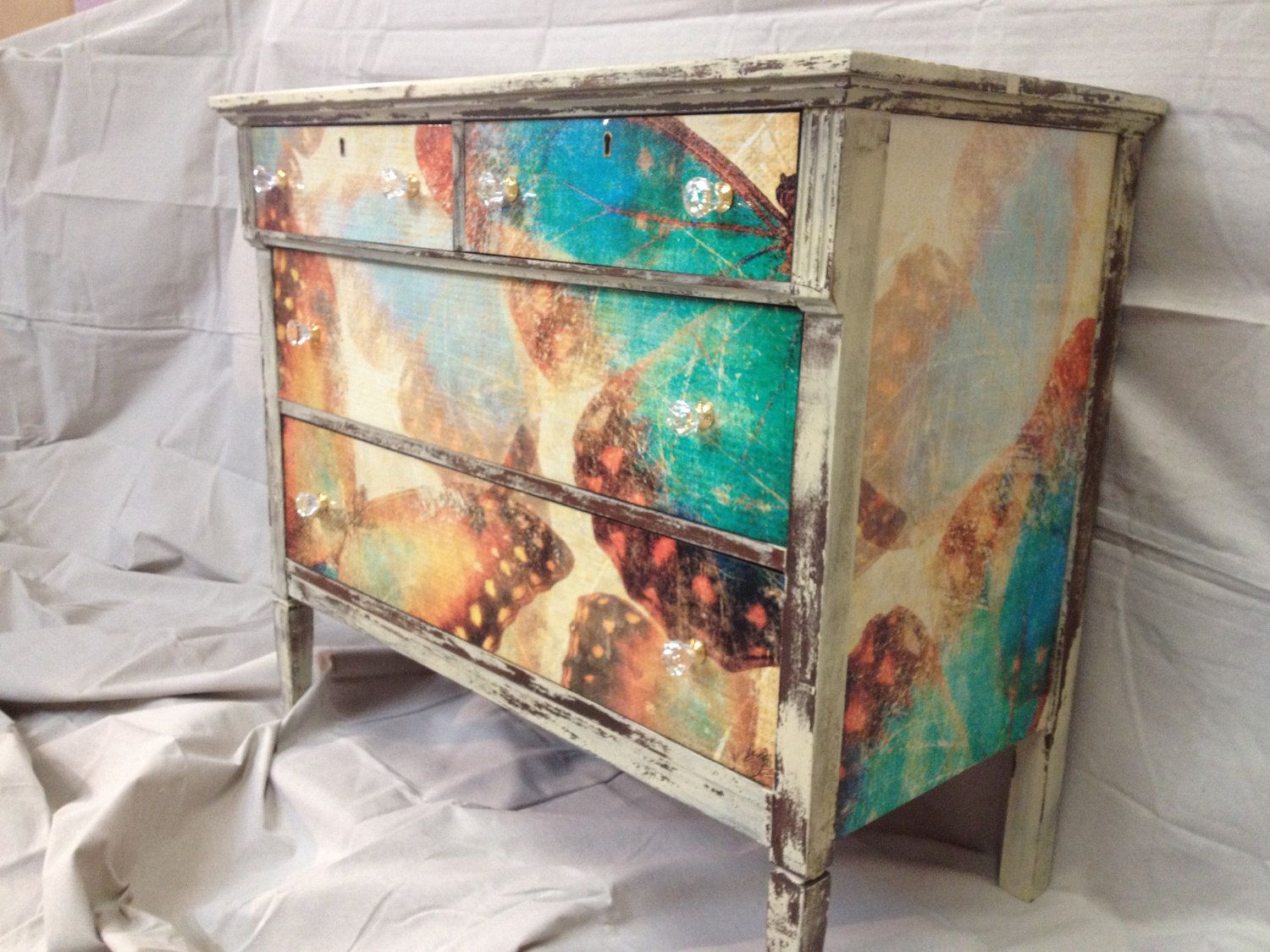 Refurbished Antique Dresser or Chest Milk Painted - Refurbished Antique Dresser Or Chest Milk Painted Dresser, Milk