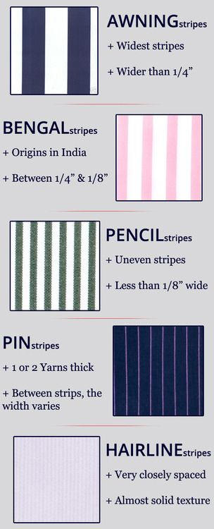 5 Stripe Patterns For Dress Shirts You Should Fashion Infographic Stripes Fashion Trendy Sewing Projects