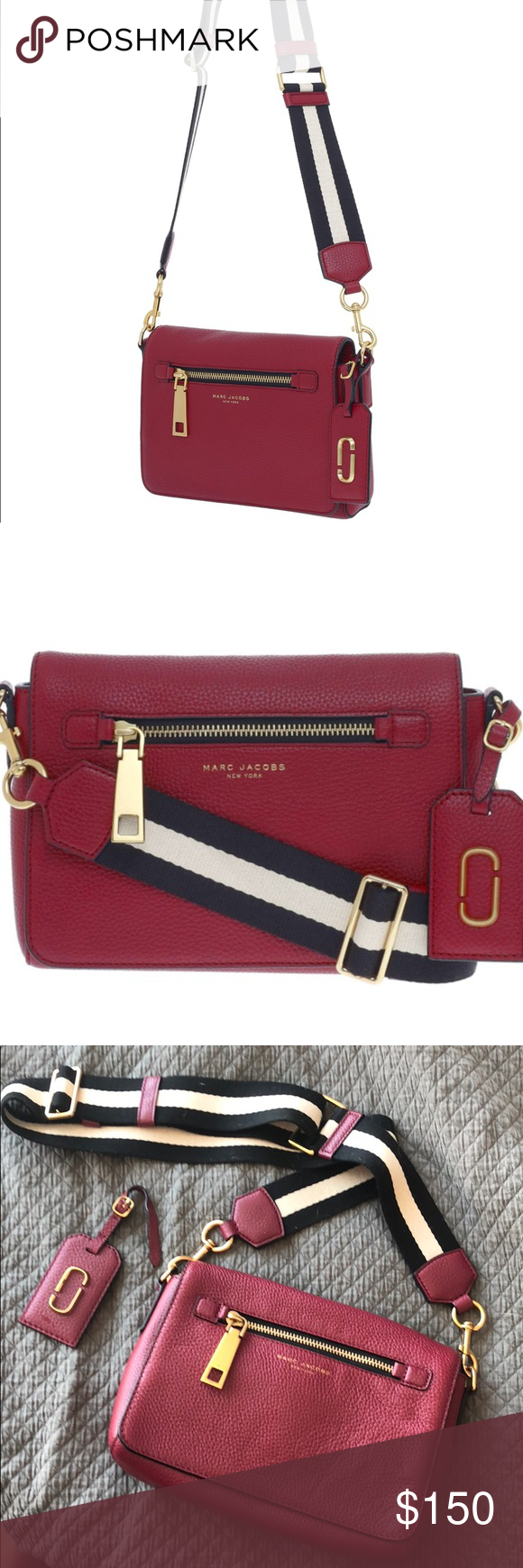 Marc Jacobs Gotham Bag in Merlot Perfect condition!!! Hardly used. Great fall and winter side satchel. Lovely merlot color. Marc Jacobs Bags Satchels