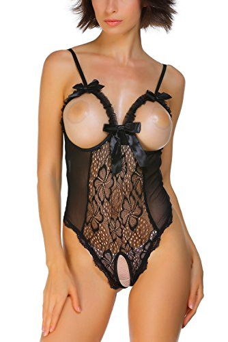 0b764e35c99 Dearlove Open Cup Crotchless Onepiece Teddy Nightwear  LingerieLC3187B1XSBlack -- Click image for more details.