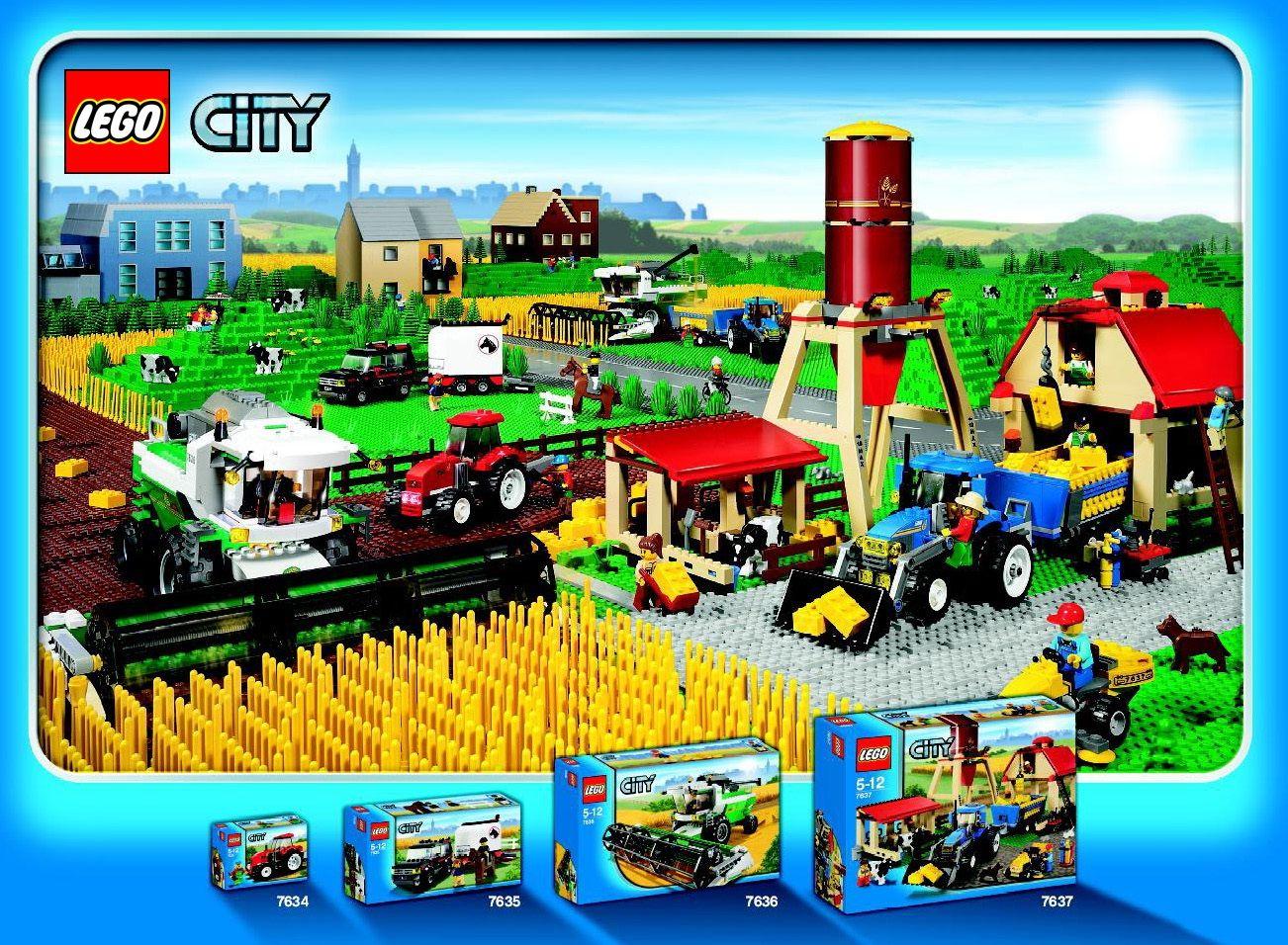Lego City Farm Sets Lego Tractor Lego Lego City