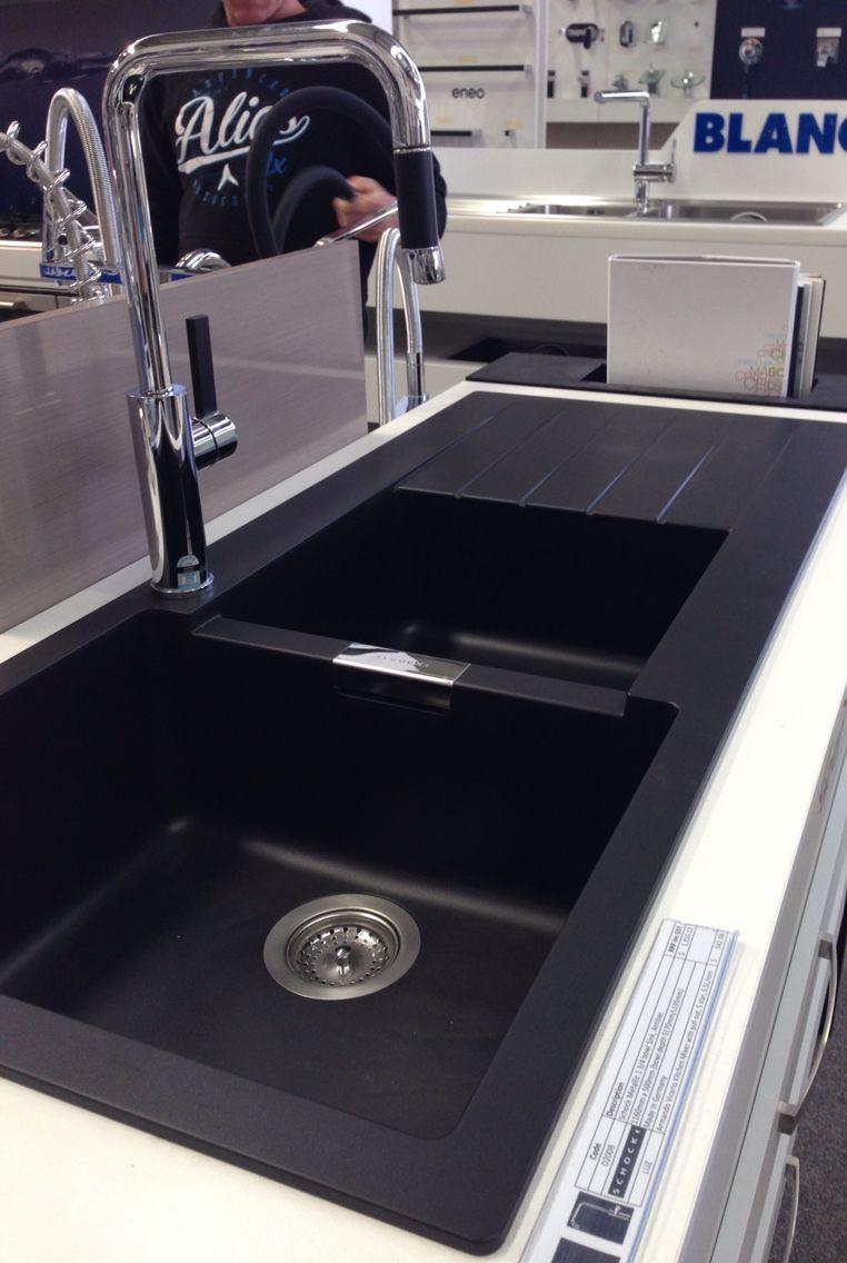 33 Algren Double Bowl Drop In Granite Composite Sink Black In 2021 Composite Kitchen Sinks Black Kitchen Sink Drop In Kitchen Sink