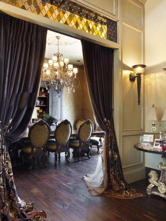 Classic Elegant Living Room Curtain Design