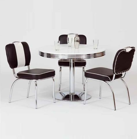 Bistro Retro Dining Table Room Ideas