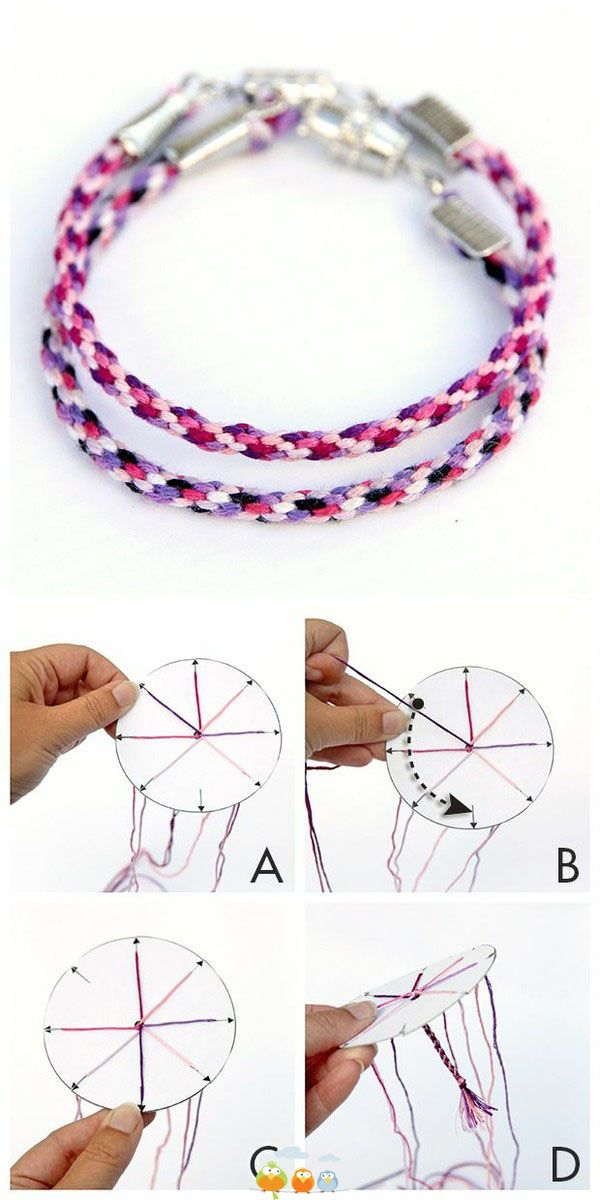 Jellyfish Friendship Bracelets - Free Printable Template - Dabbles & Babbles