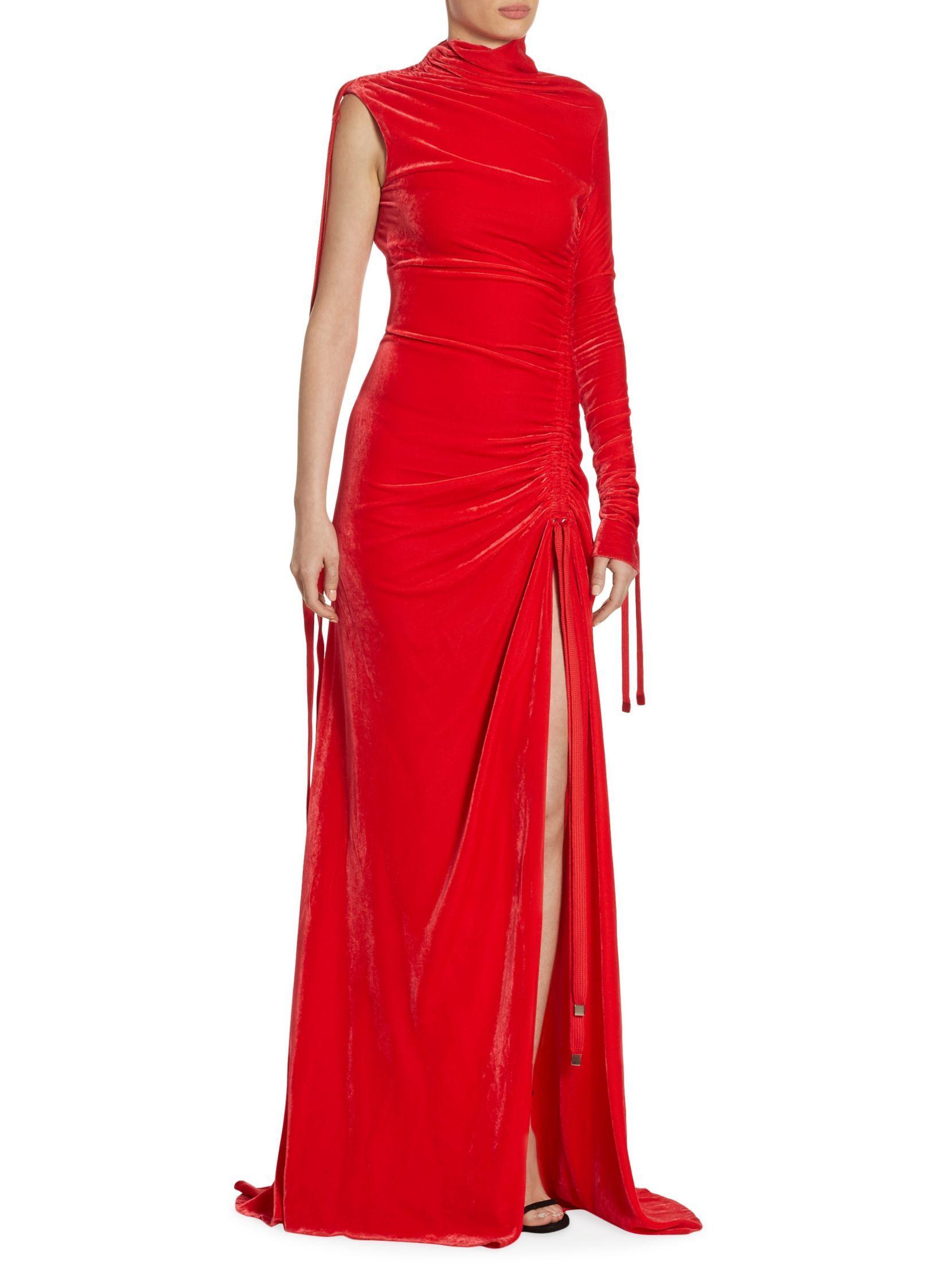 Monse one sleeve velvet gown dresses pinterest velvet gown