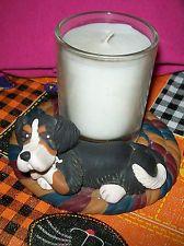 Dog On A Rug Votive Candle Holder