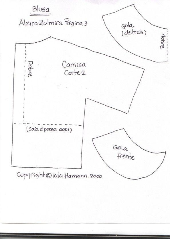 molde de camisa para boneco de pano - Pesquisa Google  e965f3fec1229