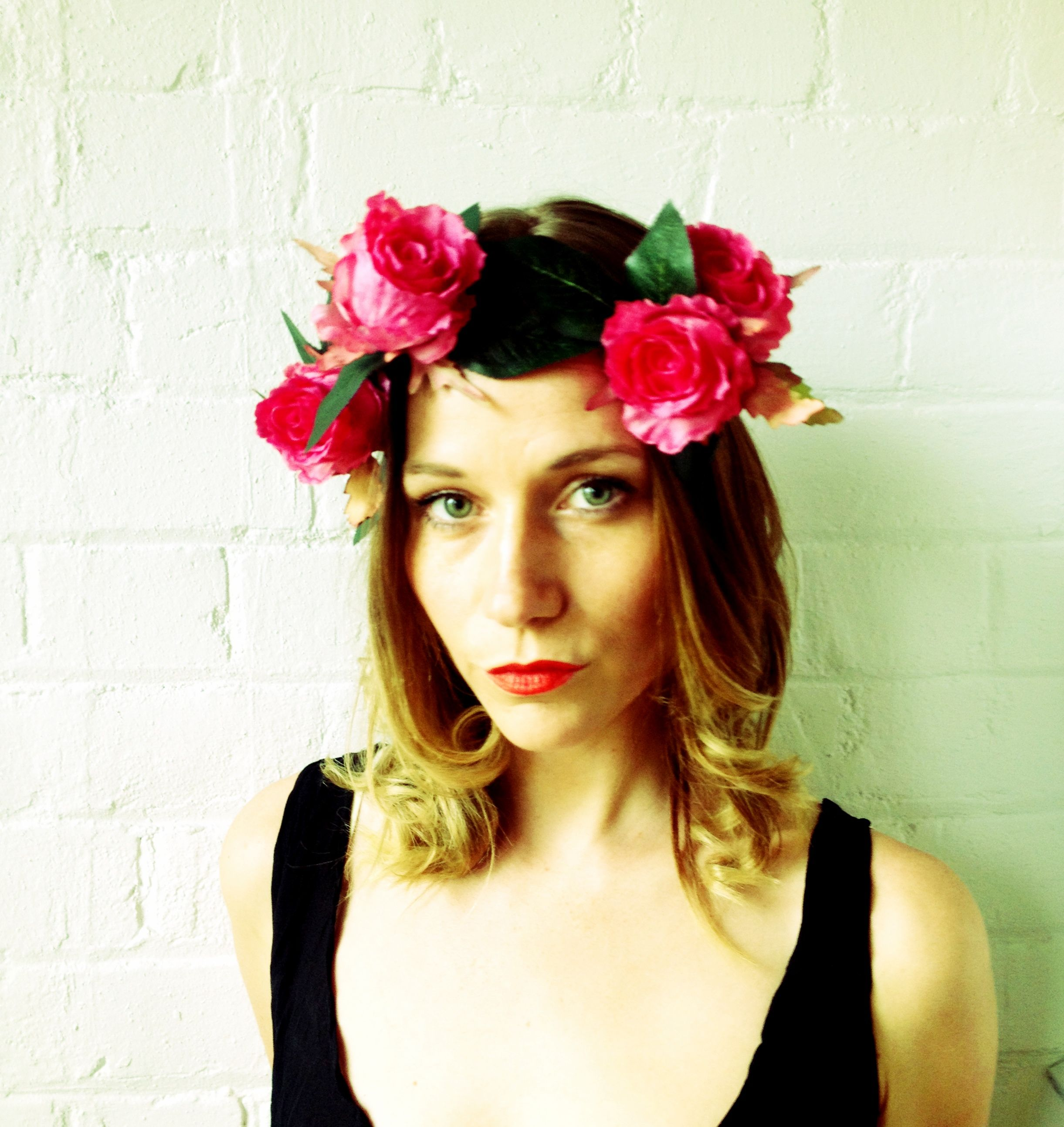 Petal and pip oversized pink rose flower crown one size fits all petal and pip oversized pink rose flower crown one size fits all 55nzd izmirmasajfo