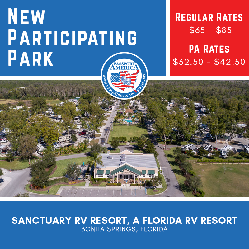Sanctuary Rv Resort In Bonita Springs Is Conveniently Located Between Naples And Fort Myers This Resort Offers 1 Bonita Springs Florida Rv Florida Campgrounds