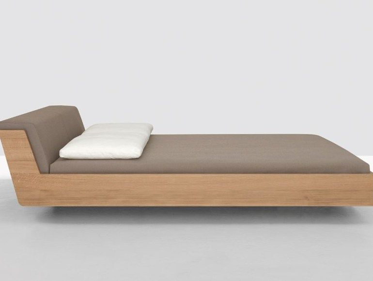 Cama doble con cabecera tapizada FUSION by ZEITRAUM | diseño ...