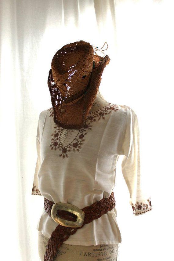 Vintage boho chic smock bohemian gypsy glam by TrueRebelClothing, $58.00