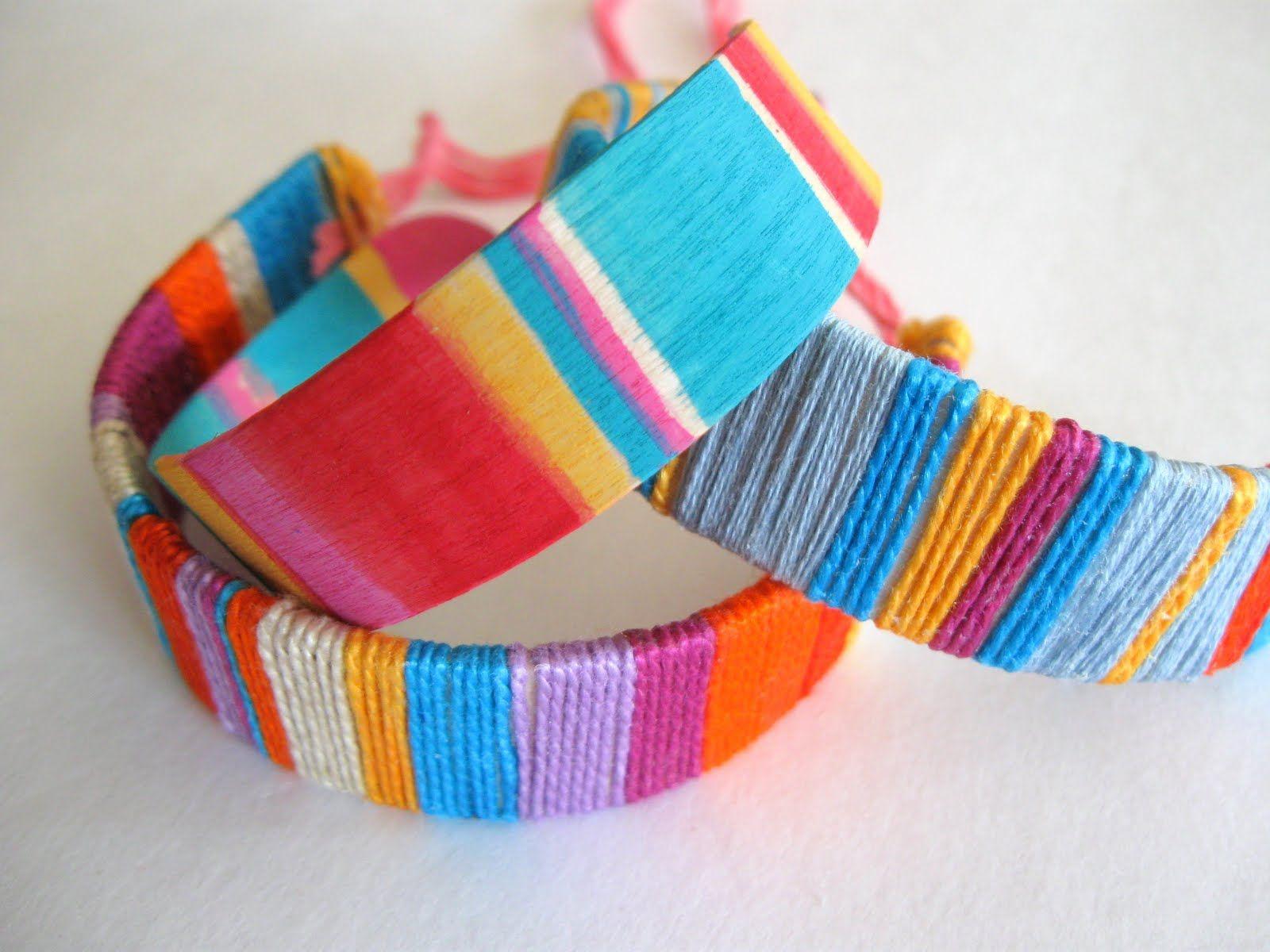 Bracelet bâton de café et fils de couture | BRACELETS | Pinterest ...