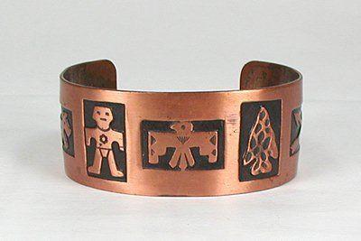 Bell Trading Co copper symbol bracelet