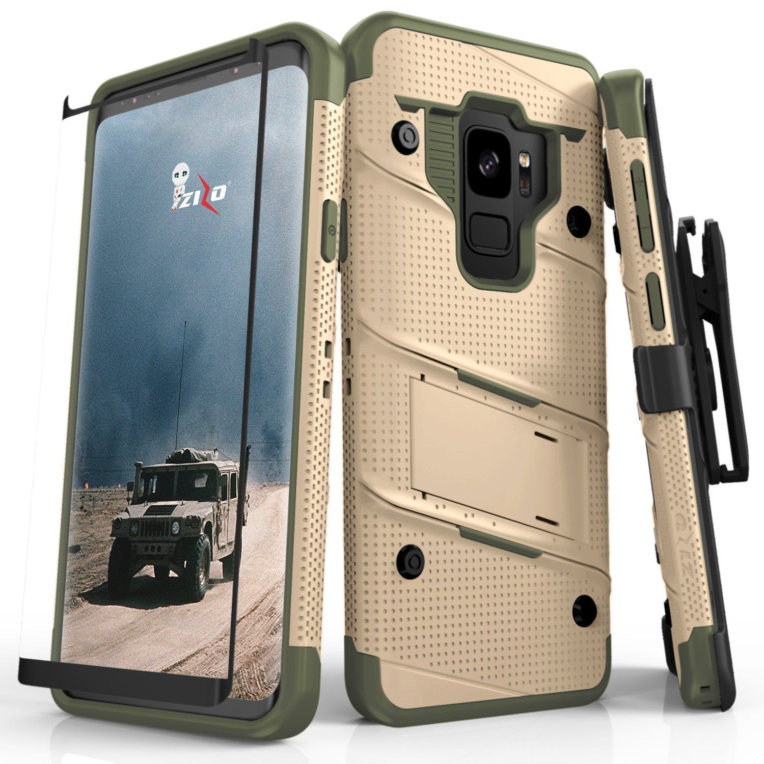 Zizo Bolt Series Best Phone Case For Samsung Galaxy S9 Products Iphone Xr Spigen Anti Shock With Card Slot Slim Armor Cs Casing Black