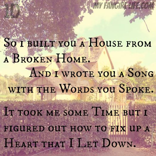 One Direction Four Lyrics - Where Do Broken Hearts Go