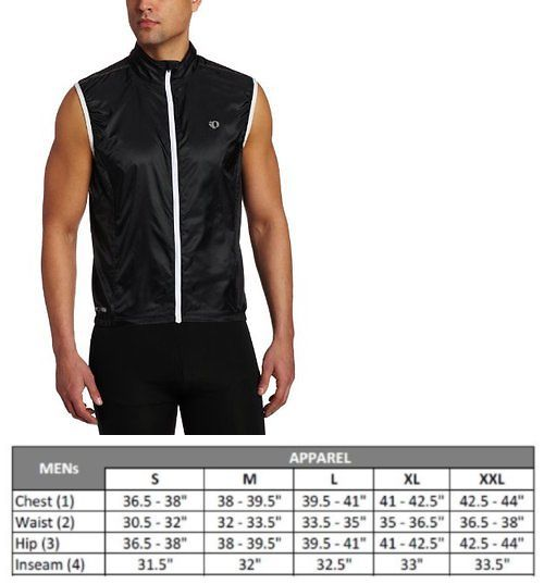 Vests 177856  Pearl Izumi Vests P.R.O. Barrier Lite Cycling Pro Zip Up Vest  Black White d89f24419