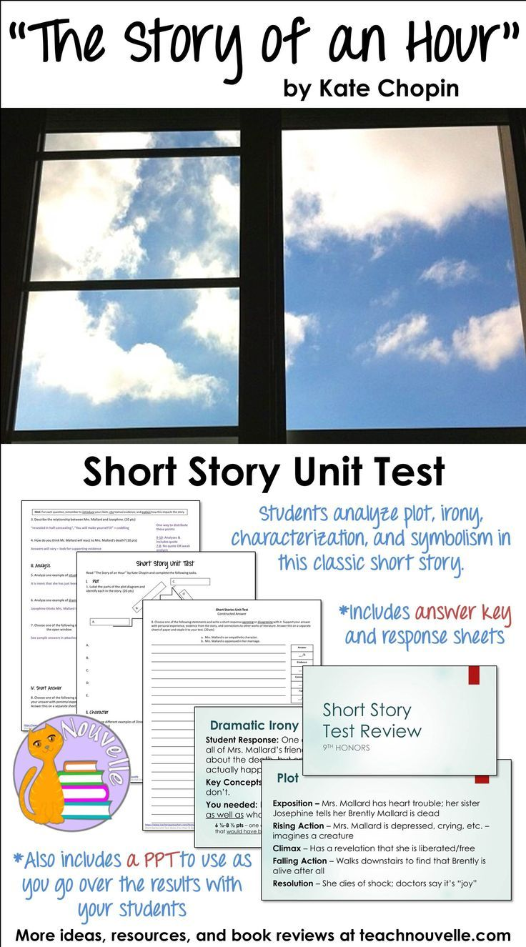 short story unit test  english exposure english language arts  this short story unit test requires students to read the story of an hour  by kate chopin and apply all of their literary analysis skills to the text
