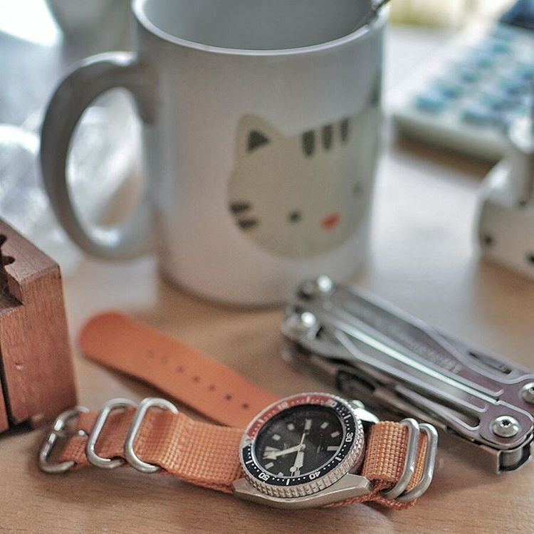 nobitahappy Having morning Tea is a blessed to be grateful. 😊     #seiko #seikodiver #4205 #automaticwatch #diverwatch #seiko4205 #wus #watchporn #watchuseek #affordablewatch #vintagewatch #leatherman #wingman #tea #zulustrap #orangezulu #watchlover