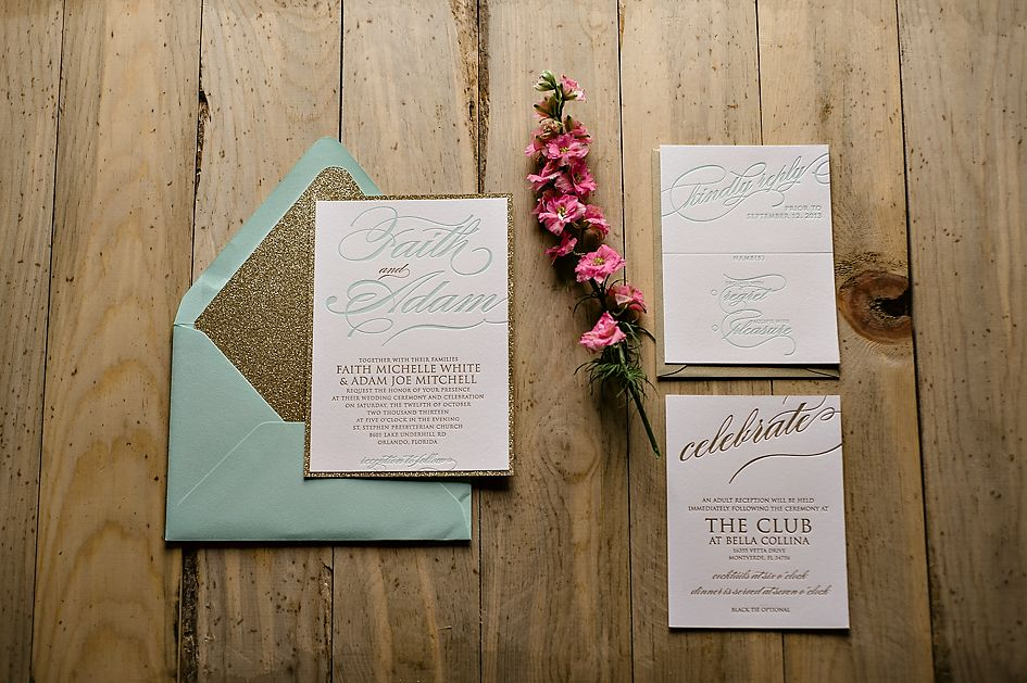 Real Wedding  Gold Glitter Gold Weddings And Letterpresses