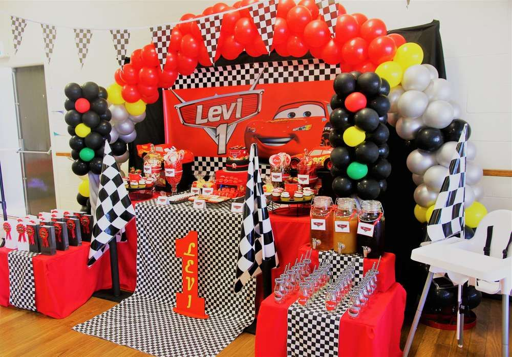 Pin On Cars Racing Party Theme