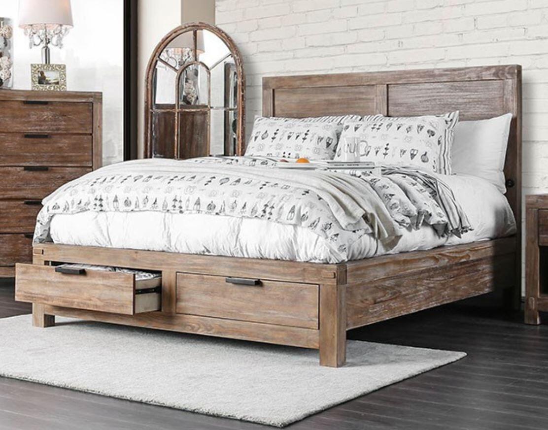 Furniture Of America Wynton King Size Storage Bed Cm7360ekbed Light Oak Appliances Connection King Bedroom Sets Furniture Bedroom Set
