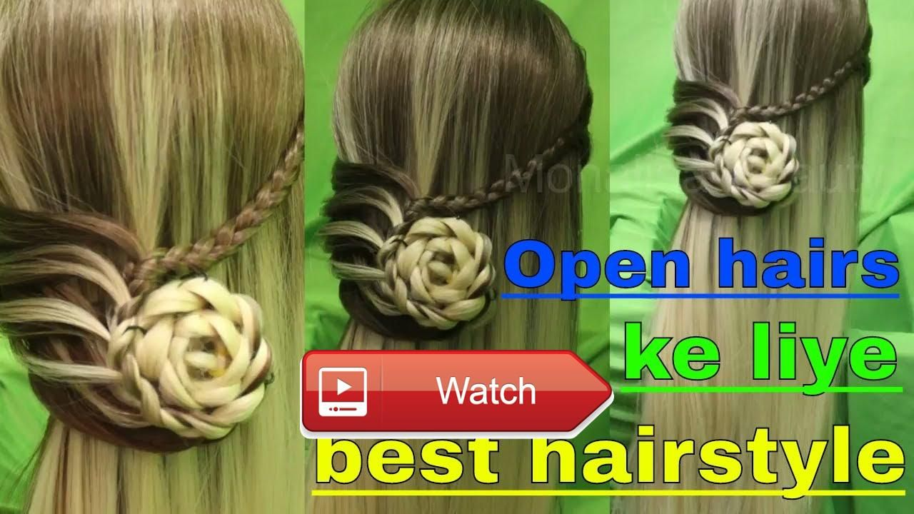 Open hairs hairstyle for long hairs for small functions in this