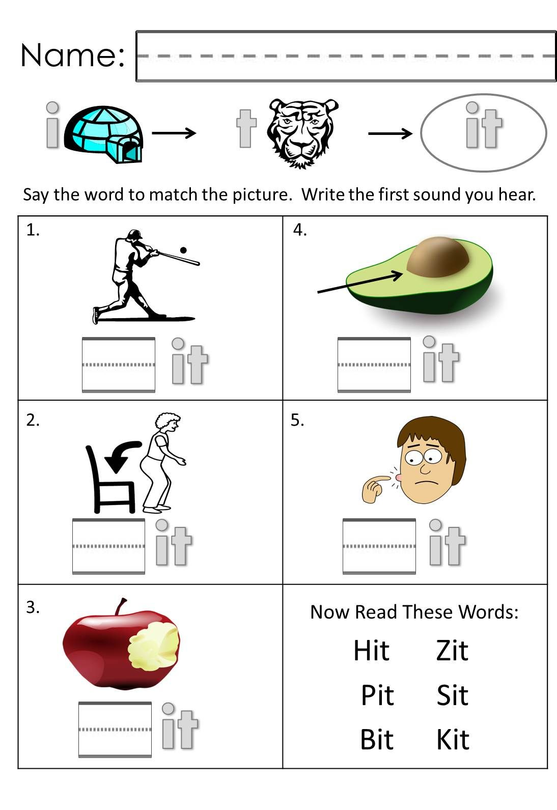 Build A Word Short A Worksheet