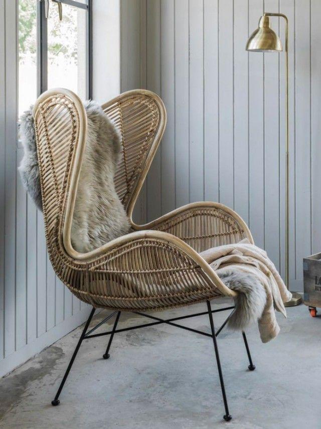 Des fauteuils design en rotin