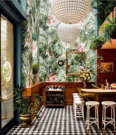 Your Favorite Spaces On Instagram This Year Architectural Digest Design Bar Restaurant Interieur De Restaurant Design De Restaurant