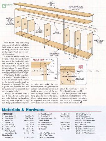 #2118 Wall Mounted Workbench Plans - Workshop Solutions | Workbench plans, Workbench ...